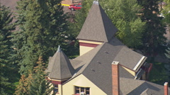 AERIAL United States-Ivinson Mansion And Laramie Plains Museum Stock Footage