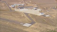 AERIAL United States-Landing At Laramie Airport Stock Footage