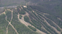 AERIAL United States-Ski Resort In The Fall Near Centennial - stock footage