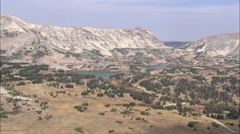 AERIAL United States-Snowy Range Made Of A Whitish Granite Stock Footage