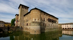 Fontanellato castle in Italy Stock Footage