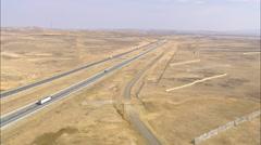AERIAL United States-Flight Across Interstate 80 Stock Footage