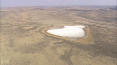 AERIAL United States-Passing Down Shallow Valley And Over A Salt Pan Stock Footage