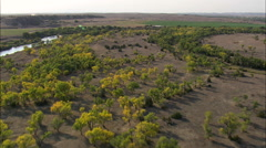 AERIAL United States-North Platte River Stock Footage