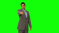 Businessman showing his fist clenched Stock Footage