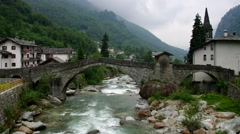 Lillianes in Aosta valley, Italy Stock Footage