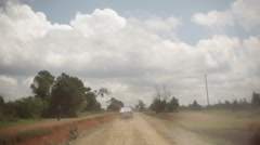 Driving on bumpy remote rural road in Kenya, Africa Stock Footage