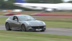 Ferrari FF on track Stock Footage