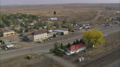 AERIAL United States-Medicine Bow Old Station Stock Footage