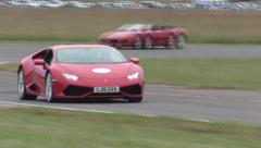 Lamborghini Huracan on track Stock Footage