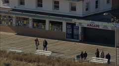 AERIAL United States-Rehoboth Beach And Boardwalk Stock Footage