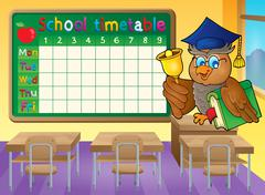 School timetable classroom theme - eps10 vector illustration. Piirros