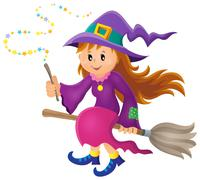 Cute witch theme image - eps10 vector illustration. Stock Illustration