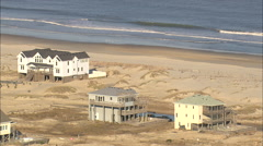 AERIAL United States-Wooden Beach Houses Stock Footage