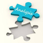 Solution blue puzzle Stock Illustration