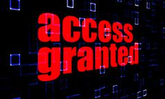 Access Granted on digital background - stock illustration