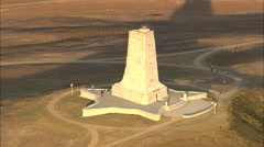 AERIAL United States-Wright Brothers National Memorial Stock Footage