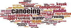 Canoeing word cloud - stock illustration