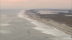 AERIAL United States-Cape Hatteras National Seashore Stock Footage