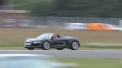 Audi R8 Spyder on track Stock Footage