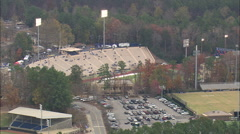 AERIAL United States-Wallace Wade Stadium On Game Day Stock Footage