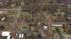 AERIAL United States-Old Salem Historic Town Stock Footage