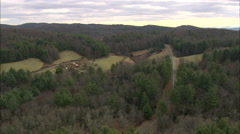 AERIAL United States-Flight Over Blue Ridge Parkway - stock footage