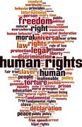 Stock Illustration of Human rights word cloud