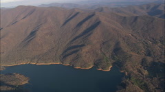 AERIAL United States-Burnett Reservoir Stock Footage