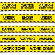 Construction Caution Tapes Stock Illustration