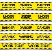 Construction Caution Tapes - stock illustration