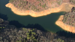 AERIAL United States-Fontana Lake Stock Footage