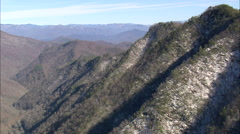 AERIAL United States-Nantahala Gorge From The South Stock Footage