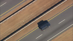 AERIAL United States-Route 74 Through Forest City - stock footage