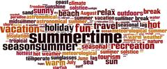 Summertime word cloud Stock Illustration