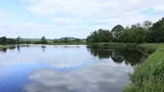 Edge of the bank,The forth Stirling City 5 Stock Footage