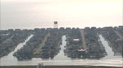 AERIAL United States-Houses On Ocean Isle Beach Stock Footage
