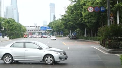 Shenzhen city road traffic landscape Stock Footage