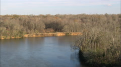 AERIAL United States-Congaree National Park Stock Footage