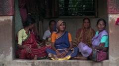 Feminine wisdom in indian a temple - stock footage