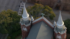 AERIAL United States-Sacred Heart Cultural Center Stock Footage