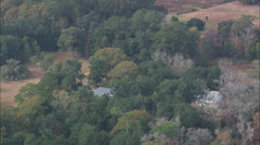 AERIAL United States-Hampton Plantation Stock Footage