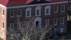 AERIAL United States-Drayton Hall Plantation Stock Footage