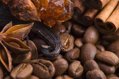 aroma coffe. ingredients. - stock photo
