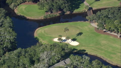 AERIAL United States-Cougar Point Golf Course - stock footage