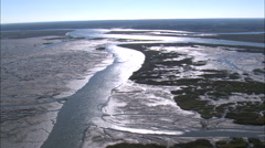 AERIAL United States-Flight Across Mud Flats Stock Footage