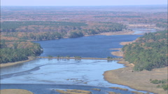 AERIAL United States-Across The Combahee River And Wetlands Stock Footage