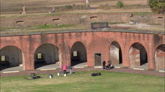 AERIAL United States-Fort Pulaski Stock Footage