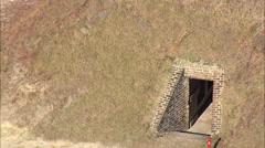 AERIAL United States-Fort Mcallister Stock Footage