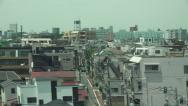 Stock Video Footage of Passing Thru Japanese City On Fast High Speed Bullet Train 02